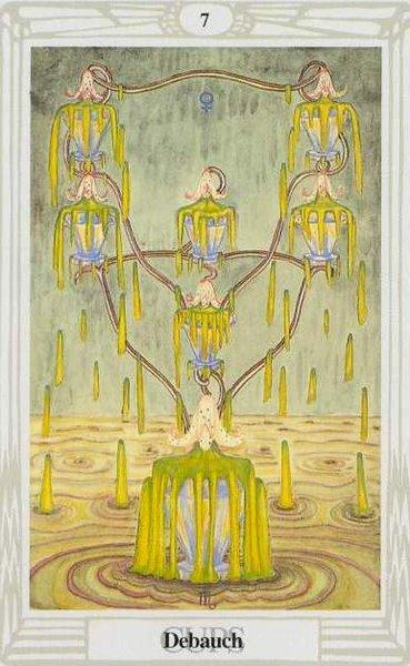 Thoth Tarot, Seven of Cups, Debauch